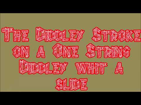 The Bo Diddley stroke on a one string Diddley    A D Eker 2019