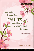 Thought For The Day ( FAULTS )