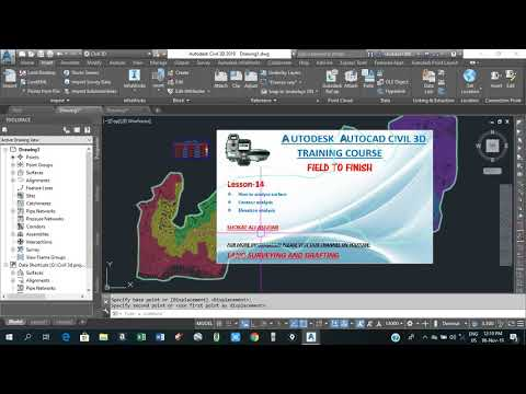 how to perform contour and elevation analysis and how to add legends tables in civil 3d Lesson#14