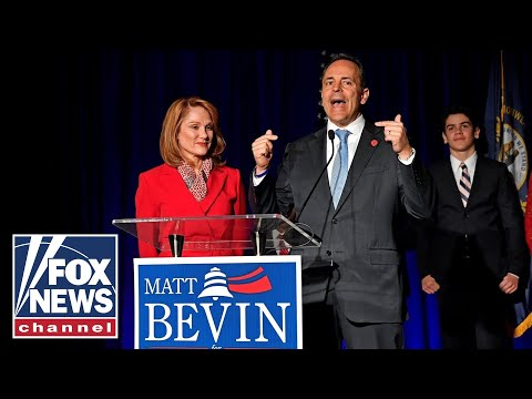 Kentucky Gov. Bevin talks to media after refusing to concede tight race