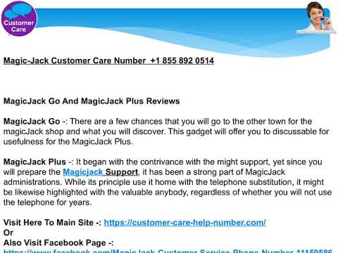 +1 (855) 892 0514   MagicJack MagicJack Customer Service Online chat