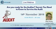 Are you ready for the Auditor? Secrets You Need to Know to Survive the Audit