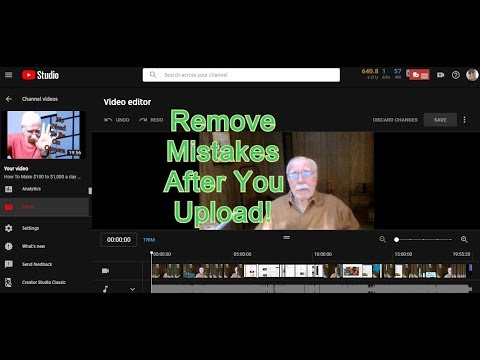 How To Trim Your Uploaded YouTube Videos