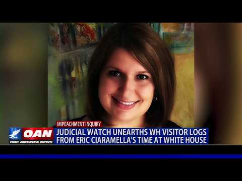 Judicial Watch unearths visitor log from Eric Ciaramella's time at the White House