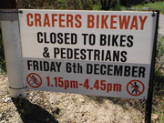 Crafers Bikeway Closure