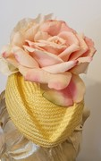 Yellow and Pale Pink Hat