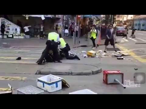HK Protesters Shot Close Range