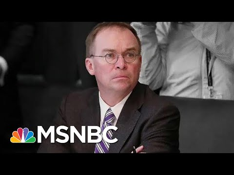 mpeachment Evidence Mic Mulvaney involved in Bribery PlotMSNBC Ari Melber