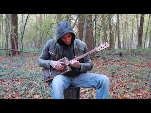 Gary O'slide - Nature - Cigar box guitar made in Borowice Lutherie