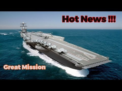 Finally!!! USS John F Kennedy (CVN-79) Docks to The Port  and Begin To Big Mission