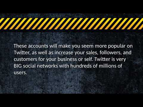 Why Buy Twitter Accounts for business marketing?