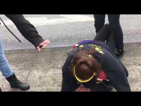 "MMA Female Champion (Tara LaRosa)Stops a ""Professor"" after Bite Attack!"