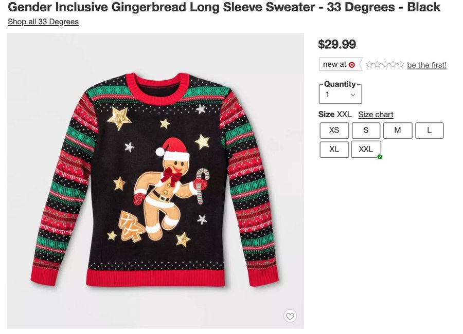 Bye Bye Sexist Gingerbread Man