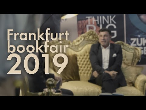 Harald Seiz presenting his book at the Frankfurter book fair 2019