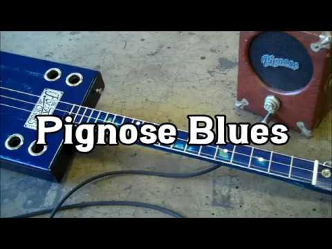 Deep Blues Slide Cigar Box Guitar -  Pignose 3 String Blues