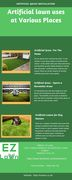 Artificial lawn uses at Various Places
