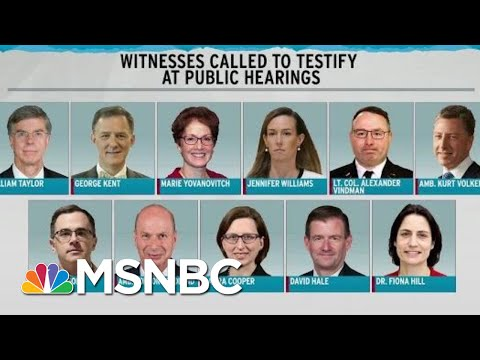 Trump Impeachment hearing Schedule released Rachel Maddow | MSNBC