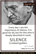 Thought For The Day ( SILENCE )