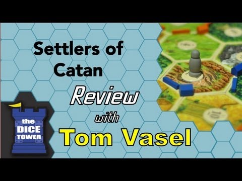 Settlers of Catan - game play explained by Tom Vasel