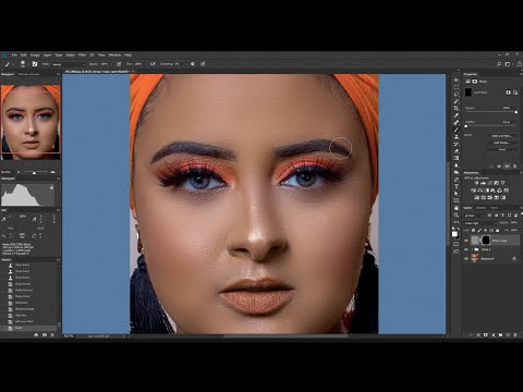 Photo Retouching Tutorial - How to Use Frequency Separation Technique in Photoshop