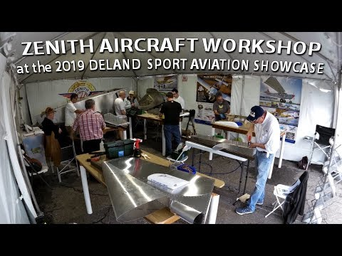 Zenith Aircraft hands-on kit building workshop at the DeLand Sport Aviation Expo