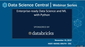 DSC Webinar Series: Enterprise-ready Data Science and ML with Python