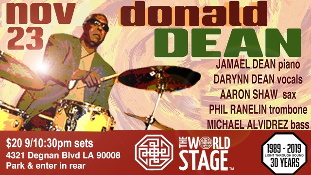 "DONALD DEAN Sr. ""Family 'n Friends"" @ The 'new' World STAGE"
