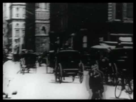 New York City Street Scene Easter 1900