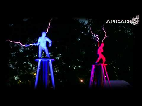 Electricity Fight! Lords of Lightning (Dueling Tesla Coil Dudes)