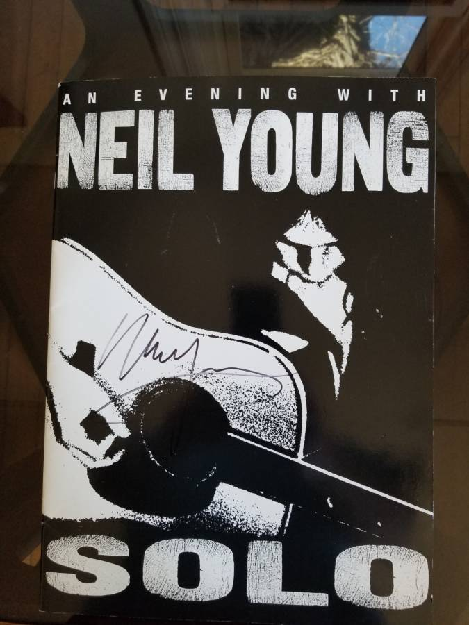 Neil Young Signed Concert Program.