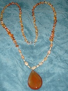Carnelian With 2 inch Faceted Pendant