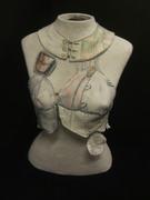 Digitally printed fabric vest