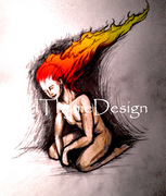 Woman with the Flaming hair