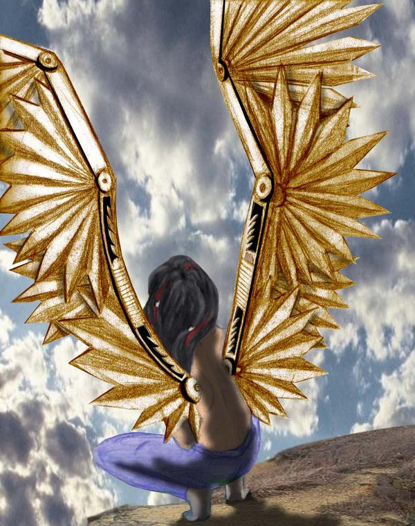 The bronze winged angel