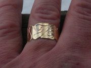 La Tene brass etched ring