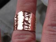 Hammer Textured Adjustable ring