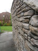 Weathered Stone Wall & Coping
