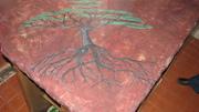 Concrete counter tree of life