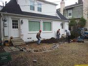 Concrete  brick paver  patio  Dallas fort worth  before