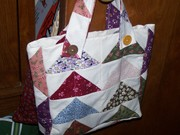 english paper piecing flying geese purse