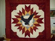 Shawn's quilt with eagle