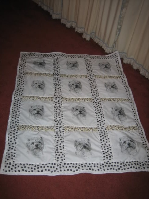 Westie Quilt For Mom