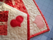 Valentine Hearts and Bars Table Runner