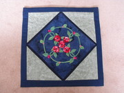 3D flower applique wallhanging