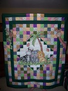 jungle baby quilt