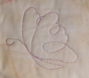 Butterfly stitch front web