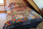 """""""Funky Felines"""" - my first rag quilt"""
