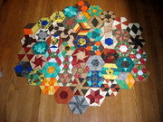 52 Pieced Hexagons.