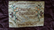 Quilt label for the Dresden