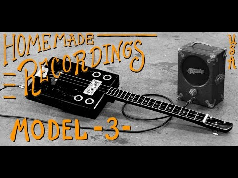 Homemade Cigar Box Guitar Recordings - Bottleneck Slides & Pignose Amps - Red Dog Guitars